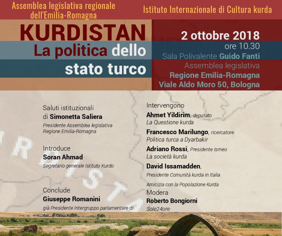 Kurdistan. La Politica dello Stato Turco - Bologna