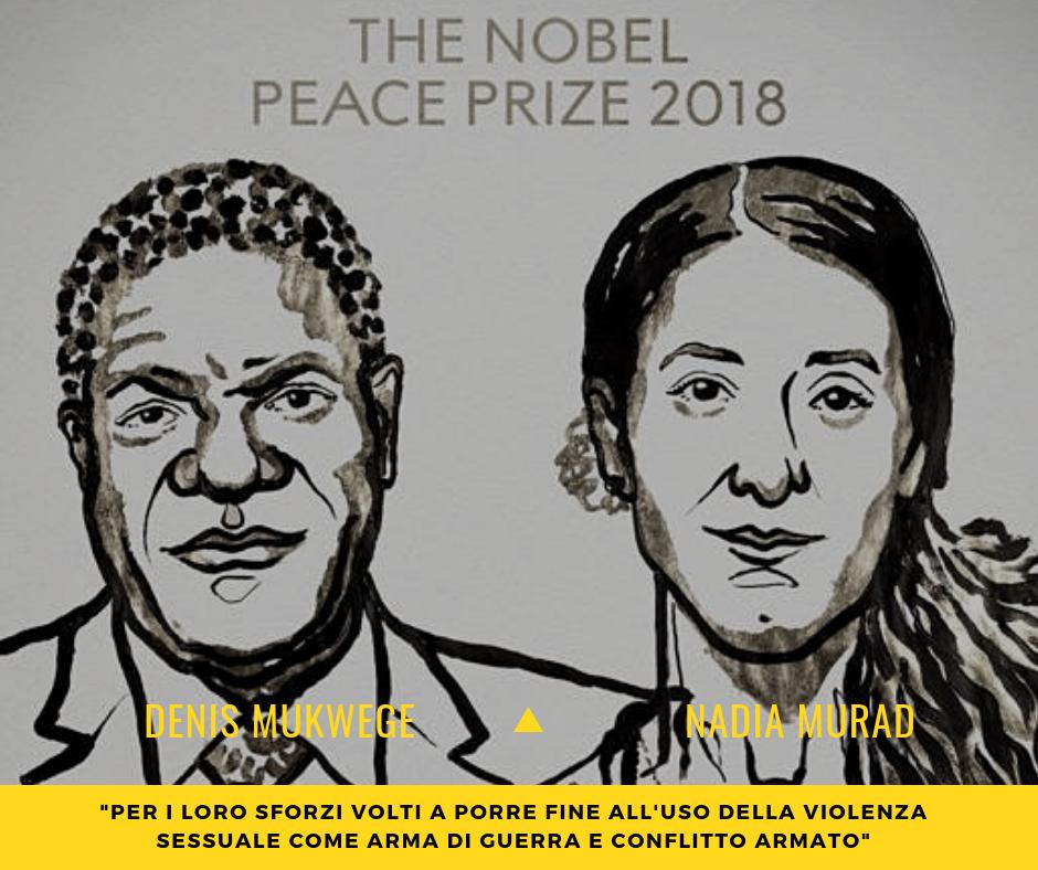 Il Premio Nobel per la pace a Nadia Murad e Denis Mukwege