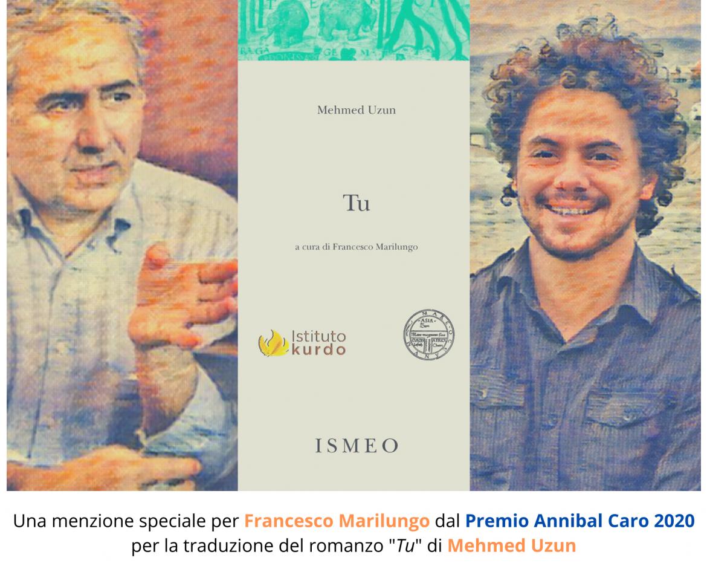 menzione_speciale_Francesco_Marilungo_Premio_Annibal_Caro_Tu_Mehmed Uzun