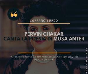 Pervin Chakar canta la poesia di Musa Anter